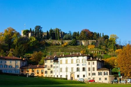 the Fara and the Rocca (Fortress), Bergamo, Italy photo
