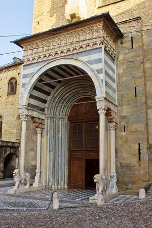 side entrance of Basilica Santa Maria Maggiore Bergamo, Italy photo