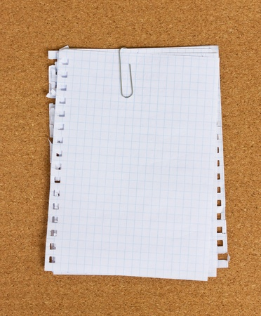 ruled paper: pile of paper for notes