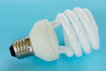 cfl: Energy efficient CFL compact fluorescent light bulb lamp