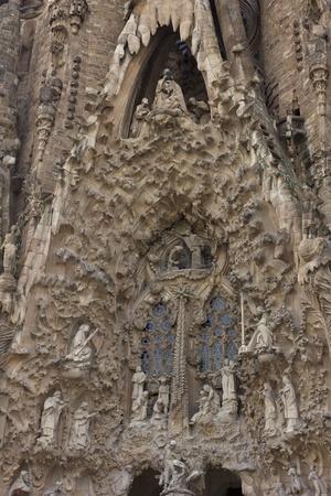 facade of birth of Christ detail, Sagrada Familia, Barcelona, Spain