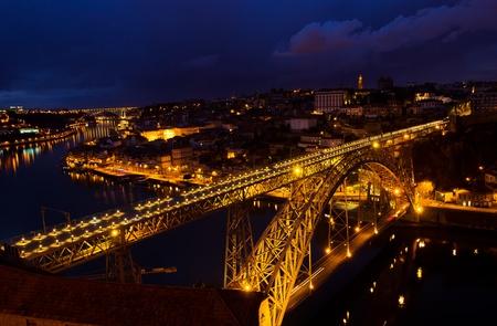 bridge of Dom Luis I in old Porto, Portugal photo