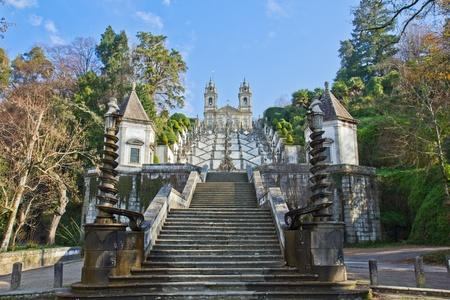 sanctuary: sanctuary Bom Jesus do Monte, Braga, Portugal Stock Photo