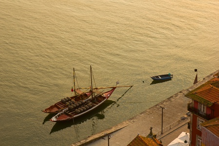 rabelo: rabelo boats, Porto, Portug