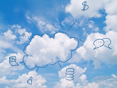 cloud computing concept Stock Photo - 12414717