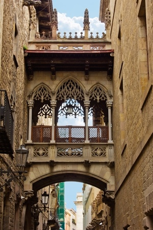 medieval old town, gothic quarter, Barcelona, Spain Stock Photo - 12415340