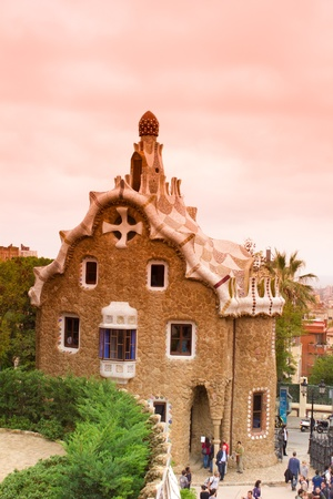 Park Guell was commissioned by Eusebi Guell and designed by Antonio Gaudi.
