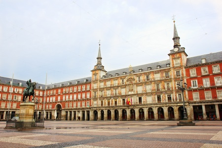 main square of Mdrid -  Plaza Mayor, Spain