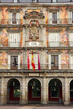 facade of old building on Plaza Mayor, Madrid, Spain Stock Photo - 12415408