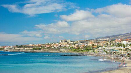 coasr line of popular european resort playa Las Americas, Tenerife, Spain photo