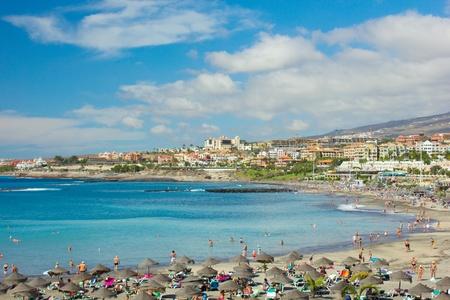 Playa las Americas, Teneryfa, Hiszpania Zdjęcie Seryjne
