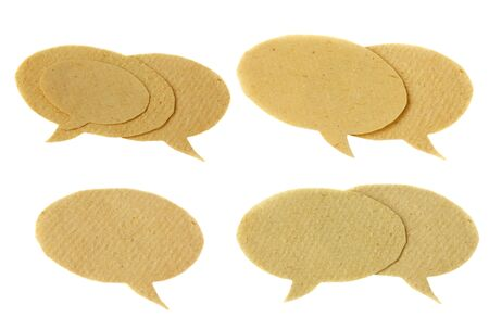 set of speech bubbles isolated on white background photo