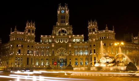 plaza de la cibeles: Plaza de la Cibeles Cibeles s Plaza - Oficina Central de Correos Palacio de Comunicaciones, Madrid, España Foto de archivo