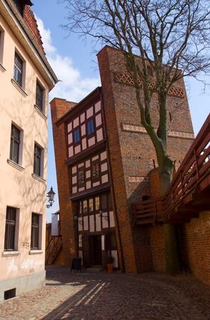 torun: 13th century Leaning Tower (Krzywa Wieza), Torun, Poland