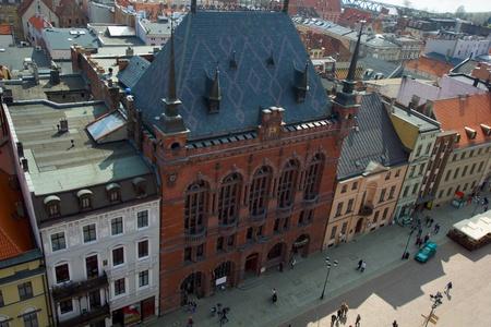 torun:  Artus Court, market square Torun, Poland