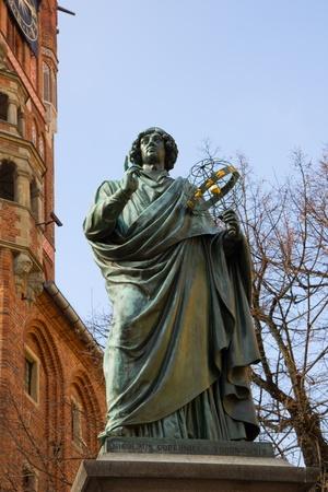 astronomer: monument of great astronomer Nicolaus Copernicus Stock Photo