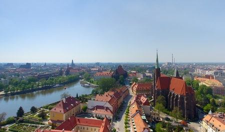 dolnoslaskie: panorama of old town of  Wroclaw, Poland