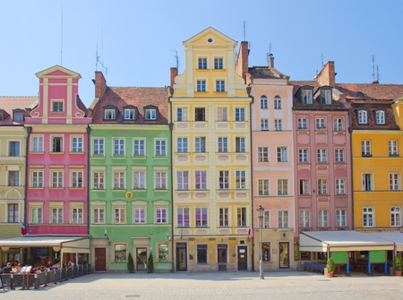 market square in old town of Wroclaw, Poland photo