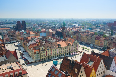 wroclaw: old town square with city hall, Wroclaw, Poland
