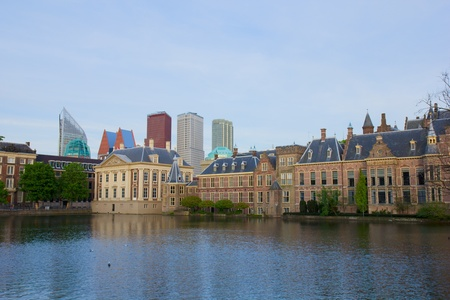 city center of Den Haag - old and new, Netherlands Stock Photo