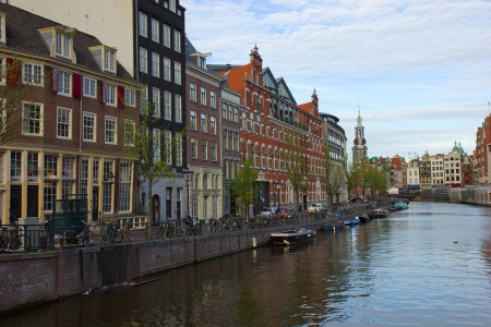 Amsterdam innercity with the Munttower in the Netherlands Stock Photo - 13775253