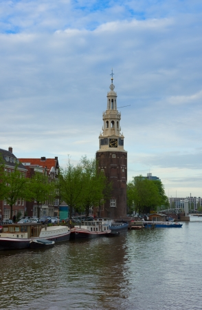 Amsterdam city center with the Montelbaans tower, Netherlands Stock Photo - 13797423