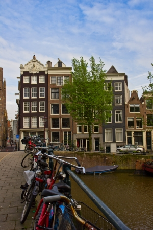 old houses on canal in Amsterdam, Netherlands Stock Photo - 13797424