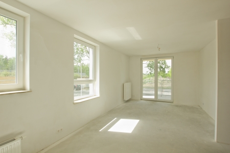 Empty unfinished room in a new constructed building Stock Photo - 14136140