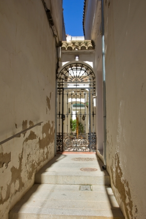 street in old town jewish quarter, Cordoba, Spain photo