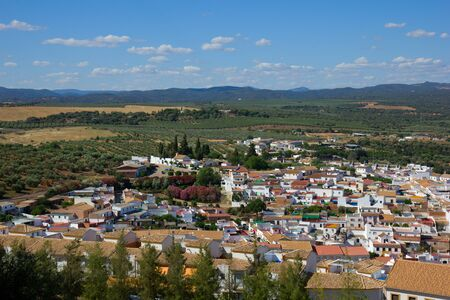 landscape and white city of Andalusia, Spain photo