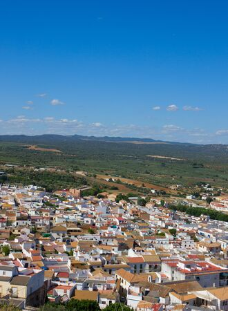 landscape and typical white city of Andalusia, Spain photo