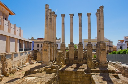ancient ruins of roman temple, Cordoba, Spain Stock Photo - 14369601