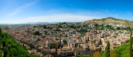 panorama of the city in Granada, Spain Stock Photo - 14460548