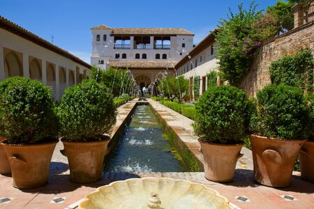 Patio de la Acequia of  Generalife, Granada, Spain