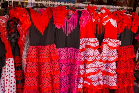 traditional dresses of gipsies of andalusia at fair in Granada, Spain Stock Photo - 14460552