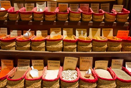 spices for sale, street of Granada, Spain photo