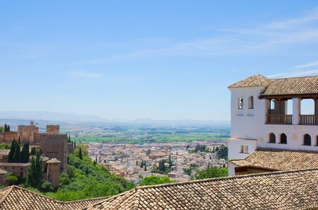 Alhambra and city of Granada, Andalusia, Spain photo