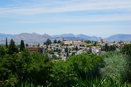 Granada in Sierra Nevada mountains, Andalusia, Spain photo