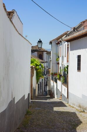 street in old town quarter Albaicin, Cordoba, Spain photo