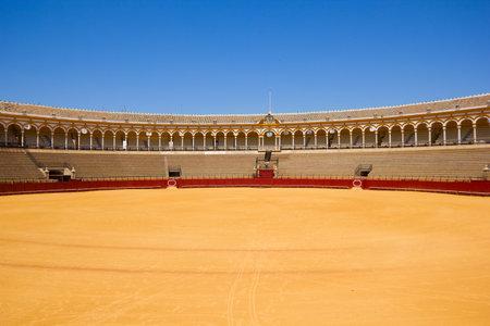 plaza de toros: bullfight arena, plaza de toros, Sevilla, Spain Editorial