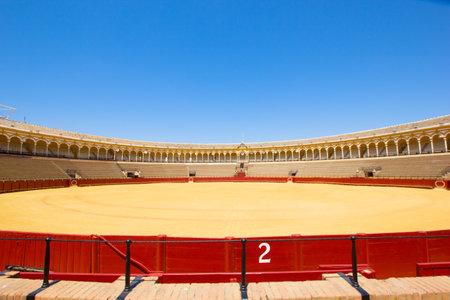 plaza de toros: bullfight arena, plaza de toros in Seville, Spain