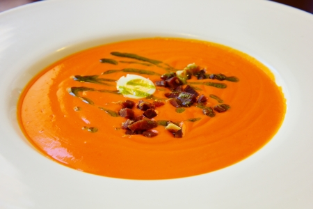 salmorejo cordobes - traditional  andalusian tomato soup photo