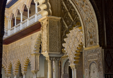 Alcazar of Seville, Spain  Pavilion with stalactites arches