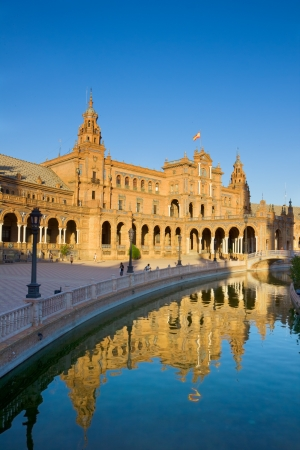 Plaza de Espana  square of Spain ,  Seville, Spain