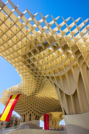 SEVILLA,SPAIN -JUNE 15: Metropol Parasol in Plaza de la Encarnacion on June 15, 2012 in Sevilla,Spain.