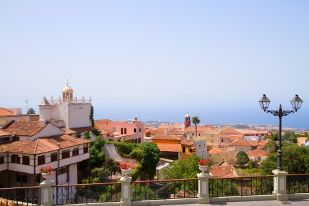 canarias: cityline of Orotava, Tenerife island, Canarias, Spain Stock Photo