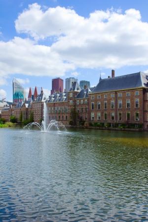 view of Binnenhof (Dutch Parliament), The Hague, Netherlands photo