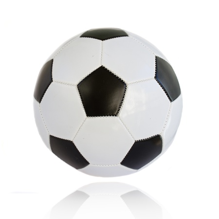 standard football ball isolated on wite background photo