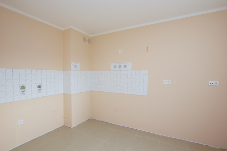 empty new renovated  kitchen room waiting for furniture Stock Photo - 15469310