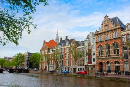 old  houses on canal in Amsterdam, Netherlands Stock Photo - 16000506